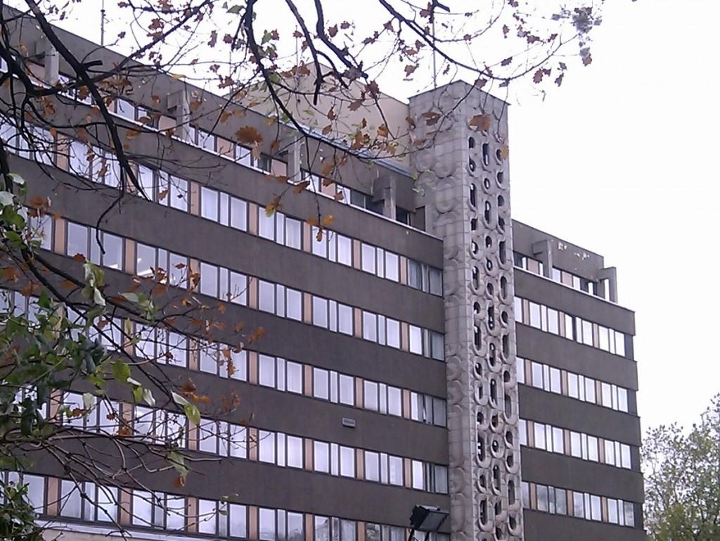 Treppenturm in Leipzig.