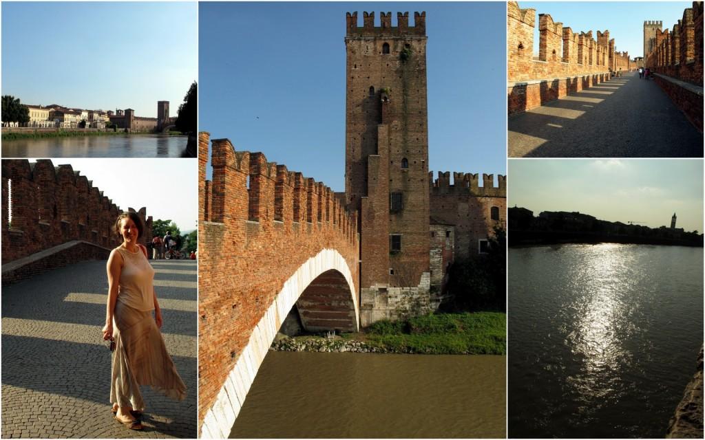 Eindrücke von der Ponte Scaligero und dem Castelvecchio, Verona.