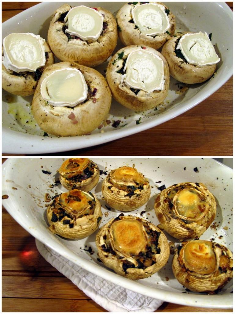 Herbst im Ofen: Gefüllte Pilze.