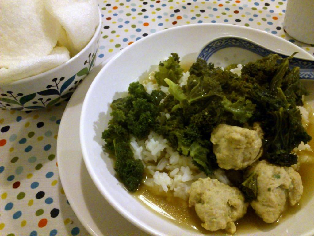 Asiatische Grünkohlsuppe.