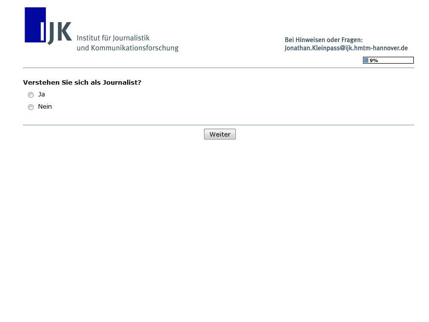 Aus einer Umfrage des Instituts für Journalistik und Kommunikationsforschung in Hannover.