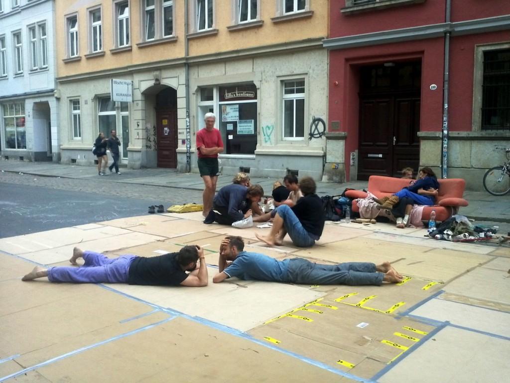 Chill-Out-Zone? Begegnungen auf der Hechtstraße.