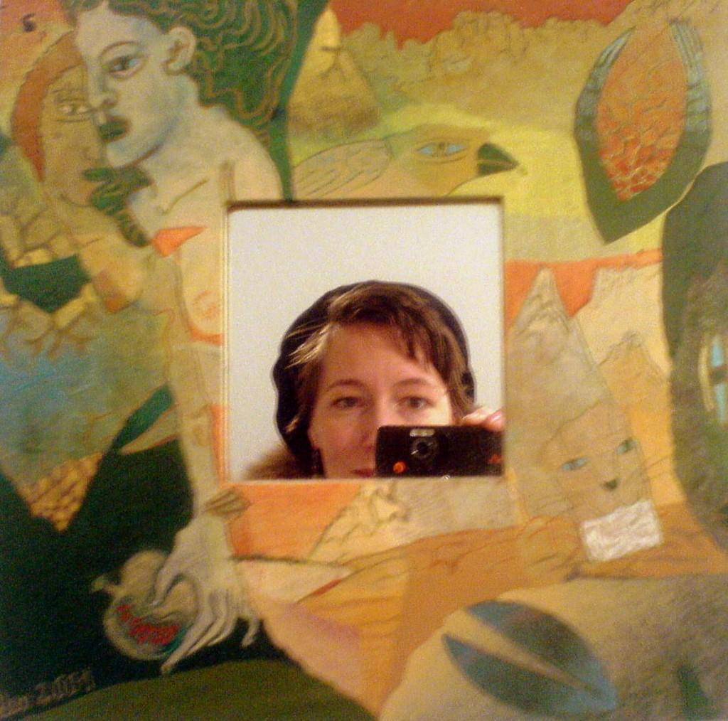 Ich in einem Spiegel von Leonore Adler.