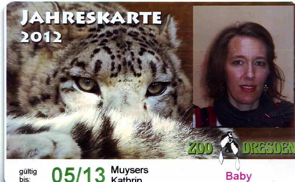 Auch geeignet, um als Schreckgespenst in der Geisterbahn anzuheuern: Jahreskarte des Dresdner Zoos.