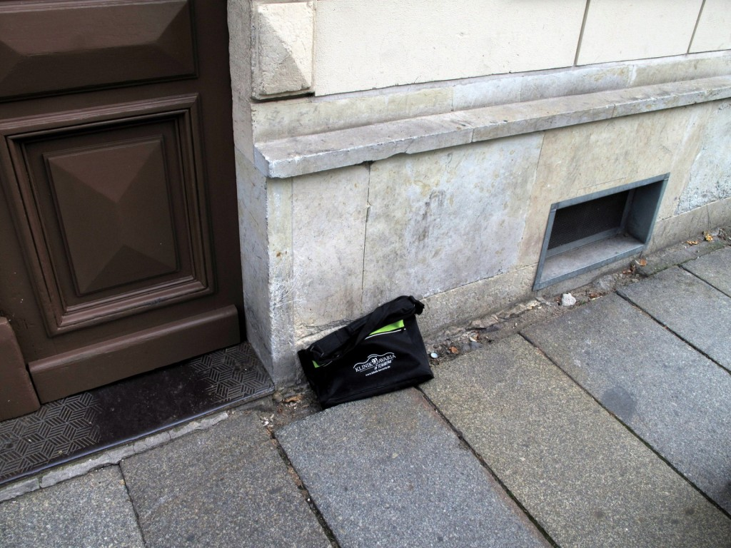 Heute auf dem Heimweg: Fundstück, gesehen auf der Eschenstraße, Dresden.