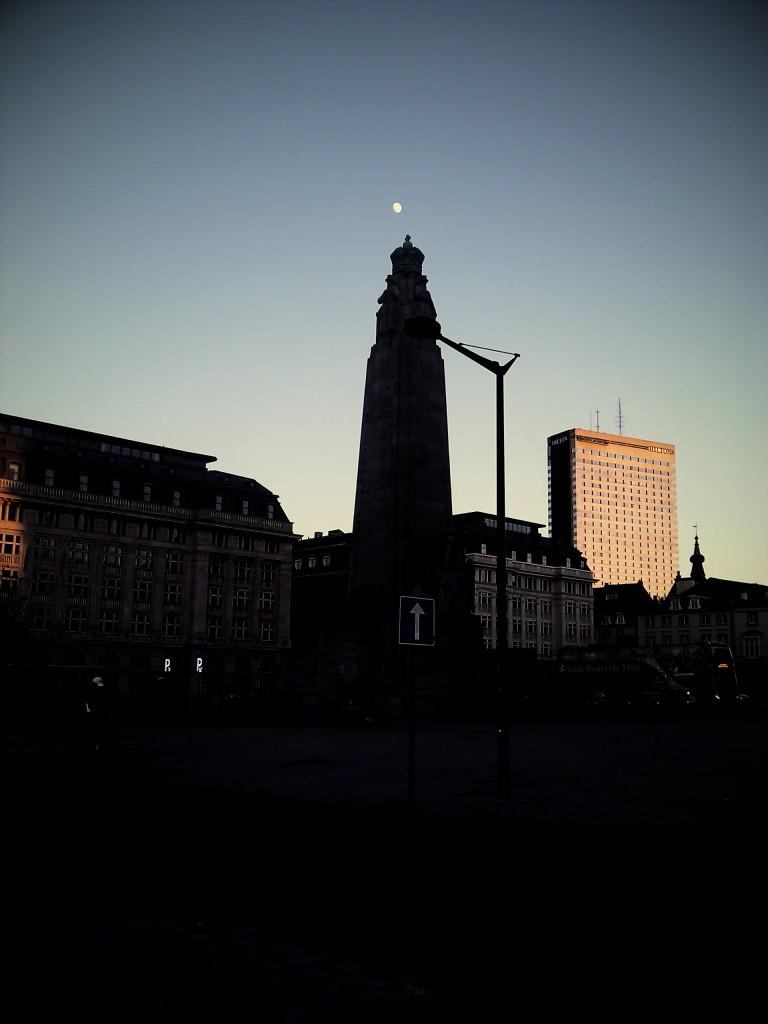 Platz vor dem Palais de Justice, Brüssel.