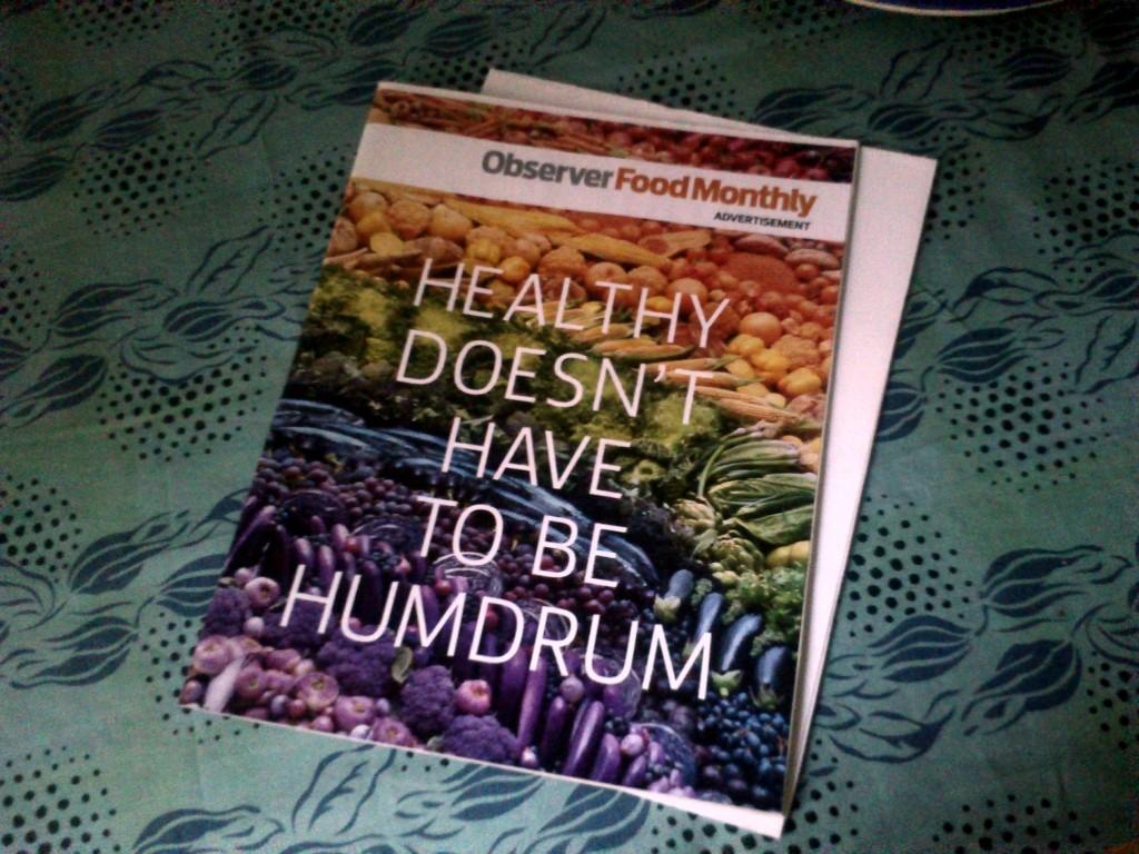Bunt und gesund: das Cover der Observer-Food-Monthly-Beilage.