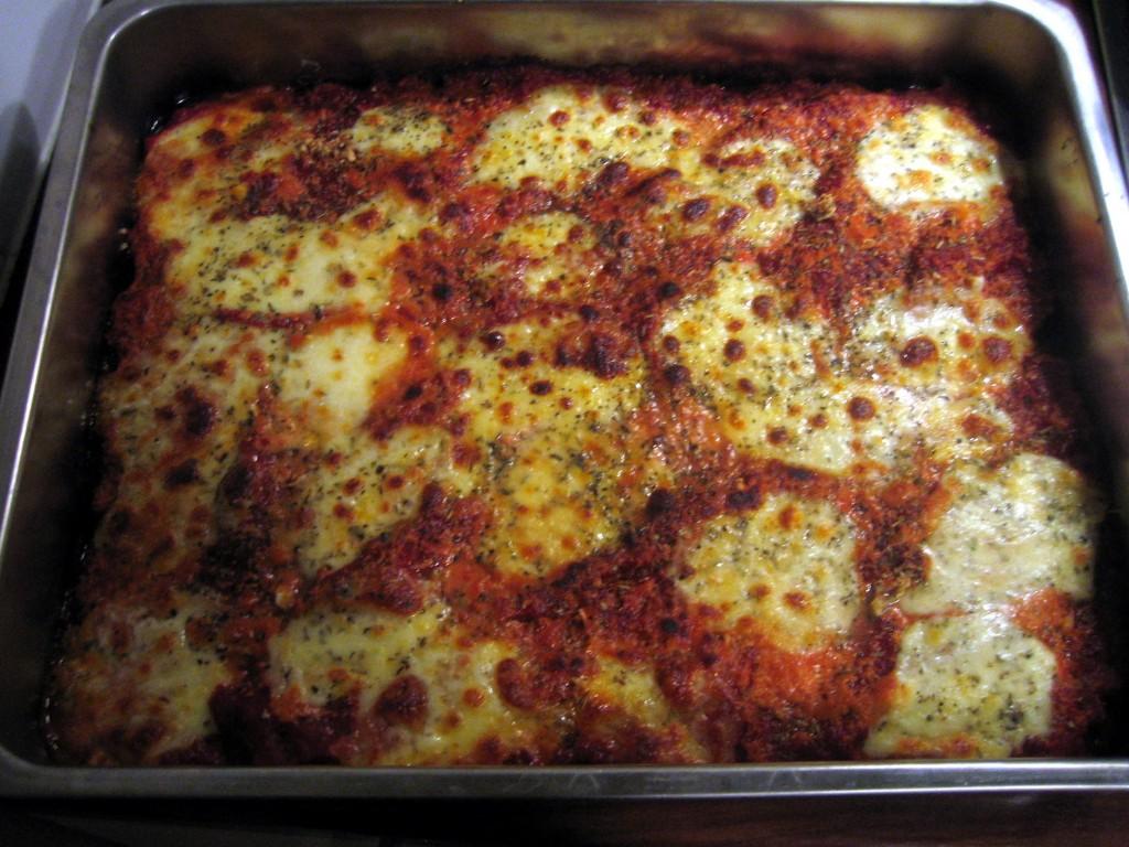 Parmigiana al forno.
