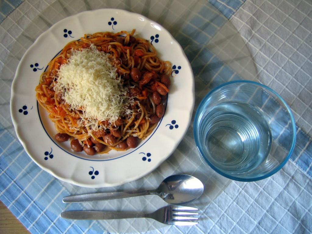 Mittagessen: Pasta e Fagioli.