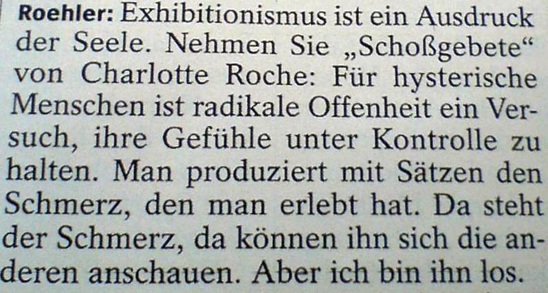 Regisseur und Autor Oskar Roehler im Gespräch mit dem SPIEGEL, 38/2011.