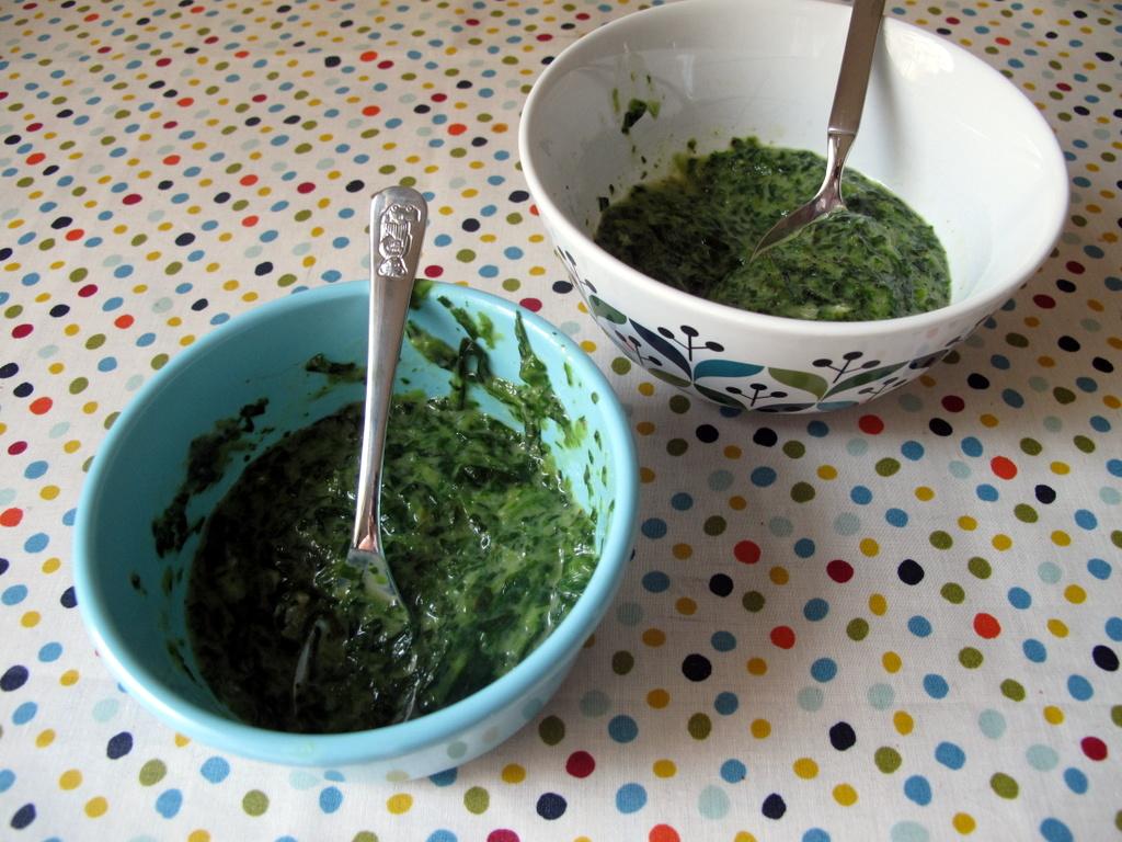 Spinnert: Spinat mit Gorgonzola.