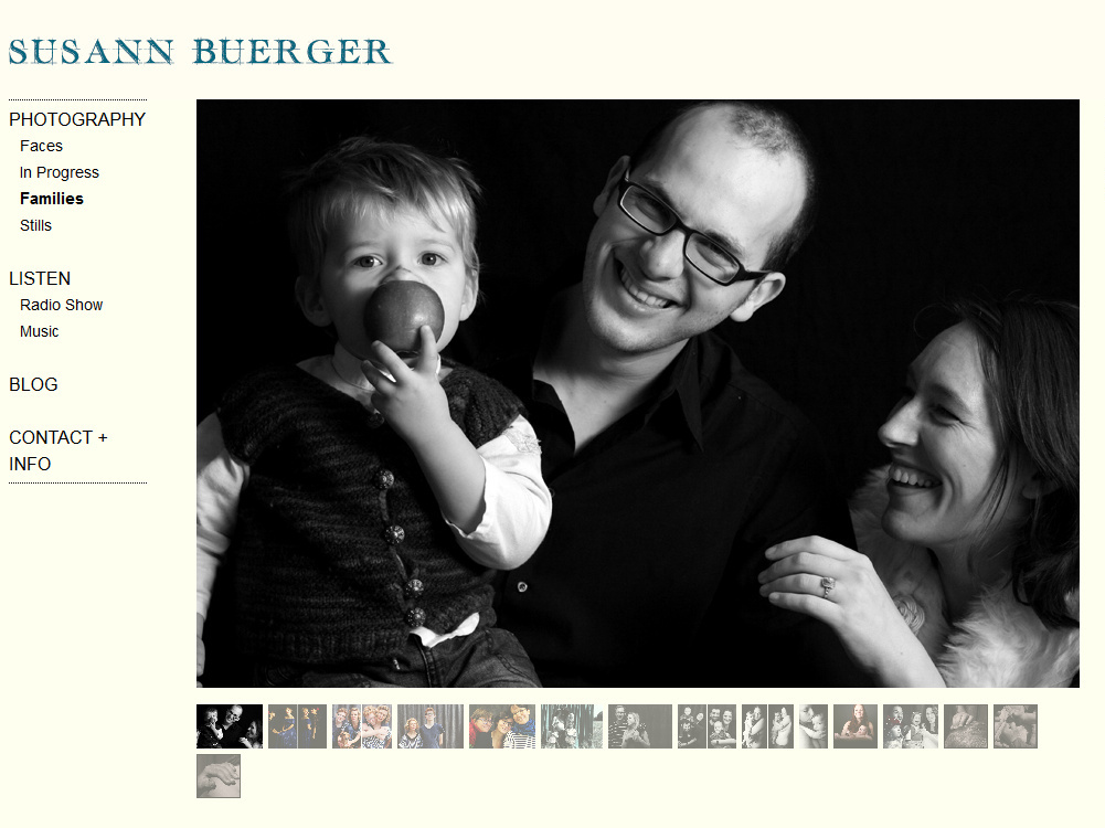 """Families"": Screenshot der Website von Susann Buerger."